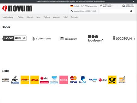Plentymarkets Template - Widget Hersteller Slider